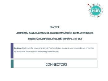 Connectors/Connectives/Transitions Review (ESL/EFL intermediate+)