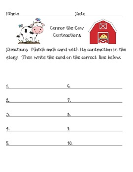 Connor the Cow - Contractions