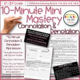 Connotation & Denotation Mini-Lesson, 10-Minute Mastery, PowerPoint Slides