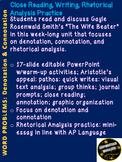 Denotation Connotation Mini-Unit w/Group Work, Journal Pro