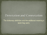 Connotation Denotation PowerPoint