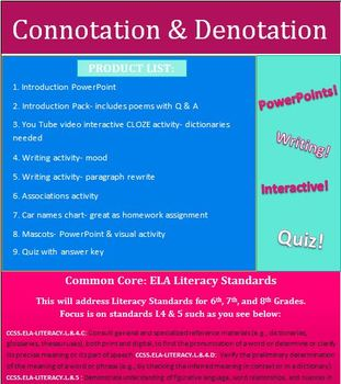 Connotation & Denotation Unit