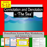 """Connotation, Denotation, and Figurative Language in """"The Sea"""" by J. Reeves"""