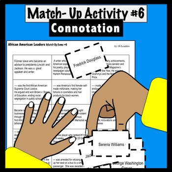 Match Up #6: Two Printable Activities on Connotation