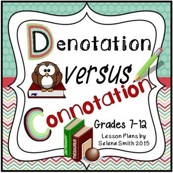Connotation And Denotation Worksheet Teaching Resources Teachers