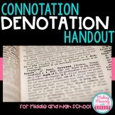 Connotation and Denotation Handout