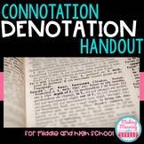 Connotation and Denotation Handout