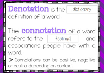 Connotation and Denotation Boom Cards