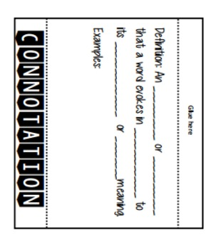 Connotation and Denotation Flipbook