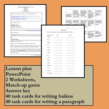 Connotation And Denotation Task Cards Match Up And More By Kim Kroll