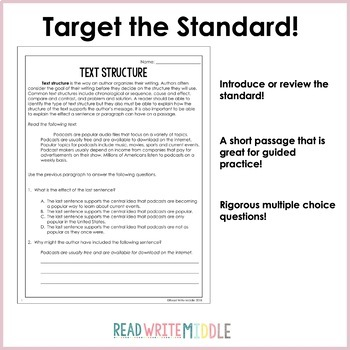 Informational Text Reading Comprehension Passages and Questions Bundle