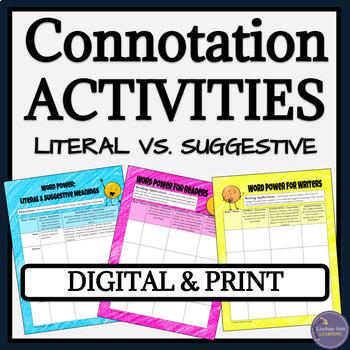 Connotation and Denotation Google Drive Activities