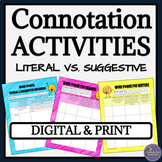 Connotation and Denotation Close Reading Digital Activitie