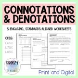 Connotations & Denotations Activities - Print & Digital