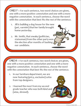 Connotations Task Cards