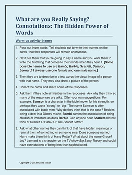 Connotations the Hidden Power of Words