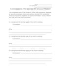 Connotations Worksheet