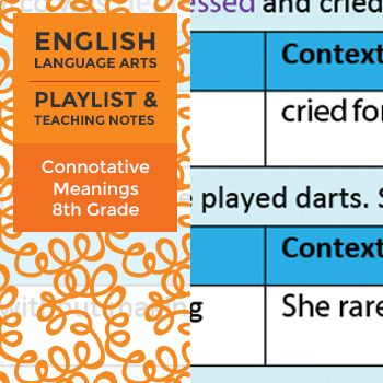 Connotative Meanings - Eighth Grade - Playlist and Teaching Notes