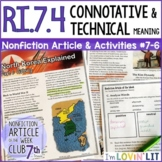 Connotative & Technical Meaning RI.7.4   History of North Korea Article #7-6