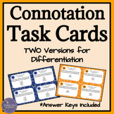 Connotation and Denotation Task Cards for Close Reading Practice