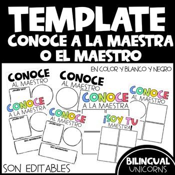 Conoce a la maestra o el maestro Editable Template