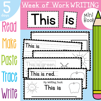 Color Words Writing Book - This is - 5 Day Book