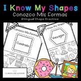 Bilingual Shape Practice Worksheets - No Prep
