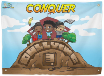 Conquer Bullying- A Great School Mural-Hard Good