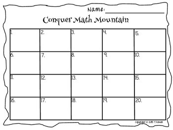 Conquer Math Mountain Addition/Subtract Task Card Activity Set