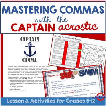 Conquering Commas with CAPTAIN Acrostic