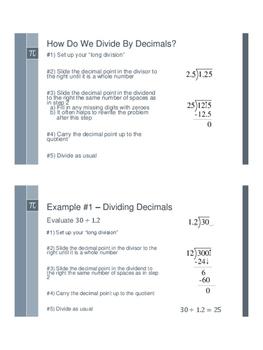Dividing Decimals - Flipped Classroom