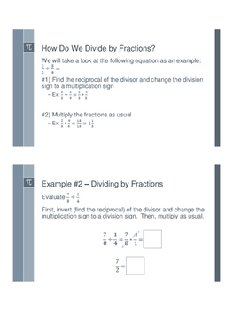 Dividing Fractions - Flipped Classroom