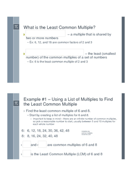 Least Common Multiple - Flipped Classroom