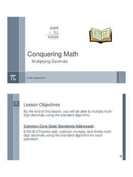 Multiplying Decimals - Flipped Classroom