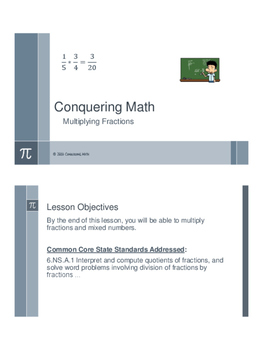 Conquering Math: Multiplying Fractions