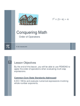 Conquering Math: Order of Operations