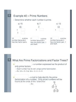 Prime Factorizations - Flipped Classroom