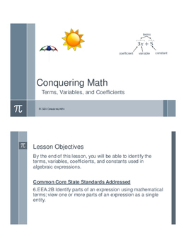 Terms, Variables, and Coefficients - Flipped Classroom
