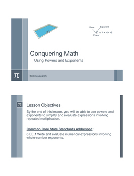 Using Powers and Exponents - Flipped Classroom