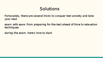 Conquering Test Anxiety Power Point