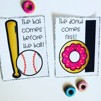 Bs and Ds! > Activities to conquer b and d reversals {donuts and baseball bats}