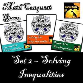 Conquest Game: Algebra Set 2 (Bundled) - Solving Inequalities