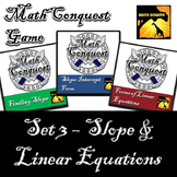 Conquest Game: Algebra Set 3 (Bundled) - Slope & Linear Equations