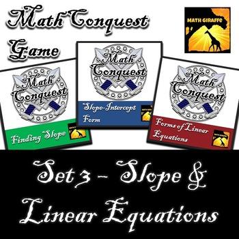 Conquest Game: Algebra Set 3 (Bundled) - Slope & Linear Equations
