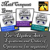 Conquest Game: Pre-Algebra Set 1 (Bundled) - Equations & Order of Operations
