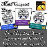 Conquest Game: Pre-Algebra Set 1 (Bundled) - Equations & O