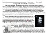 Conquistadors & Slave Trade Primary and Secondary Source Assignment