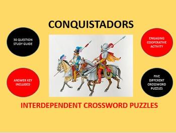 Conquistadors - Spanish Conquest in the Americas: Crossword Puzzles Activity
