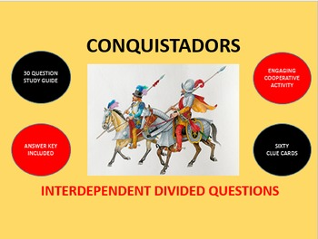 Conquistadors - Spanish Conquest in the Americas: Divided Questions Activity