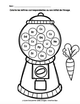 Conscience phonologique - Sons initiaux et lettres de l'alphabet